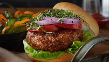 Textured Wheat Protein Veggie Burger